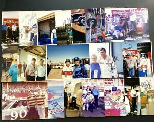Vintage NASCAR 🔥 30 Pic Lot! Most Are Signed! Foyt, Hamilton, Plus Many More!