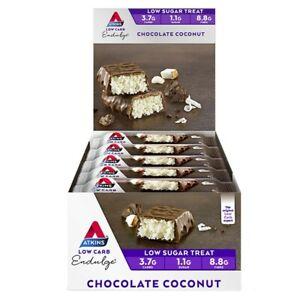 Atkins Low Carb Endulge Bars 15 x 40g - Chocolate Coconut Low Sugar Treat