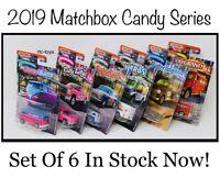 2019 Matchbox Candy Cars Series Collector Set Of 6 VW Van,Silverado,Austin Mini