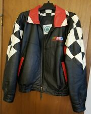 NASCAR Rare Vintage American Motorports Leather Jacket Size L Well-cared for!