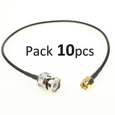 """10Pcs 12.8"""" RF Pigtail Antenna Cable Cord SMA Male to BNC Male Adapter Connector"""