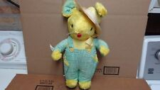 GUND CREATIONS J.SWEDLIN INC VINTAGE VERY RARE EASTER BUNNY STRAW STUFFED EXCELL