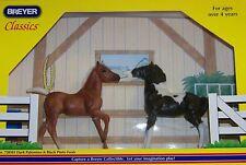 Breyer Horse DARK PALOMINO & BLACK PINTO FOALS BNIB  CLASSIC SIZE