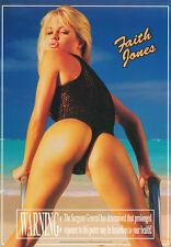 LOT OF 2 POSTERS : FAITH JONES - WARNING .. - SEXY MODEL FREE SHIP #3143  RC52 T
