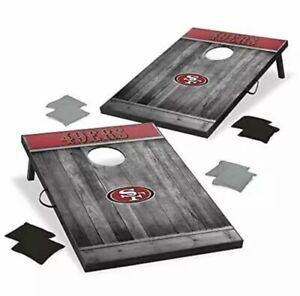 Wild Sports 2'x3' MDF Wood NFL San Francisco 49ers Cornhole Set - Grey Wood D...