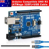 Arduino Uno R3 USB Cable Kit Board Development Compatible ATMega328P OZ