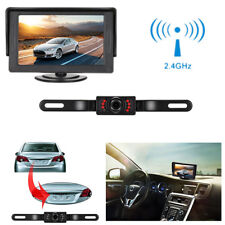 Car Backup Camera Rear View System +4.3 LCD Monitor Kit Wireless Night Vision