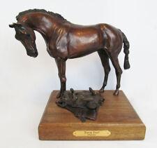 "Artist Signed Dimaro 2004 L.E. 20 Bronze Horse with Dog ""Tough Day?"" Sculpture"