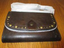 NWT - Women's Frye MELISSA Western Stud Leather Wallet / Crossbody Bag - SLATE