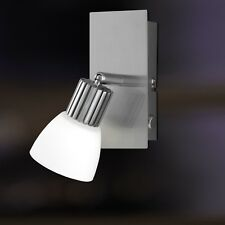Wofi Applique murale à LED CAMPO 1-FLG nickel verre blanc interrupteur 4 watt