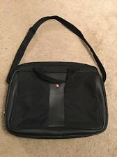 SWISS ARMY BRIEFCASE MESSENGER BAG CASE SHOULDER LAPTOP BLACK