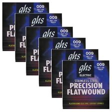6 Sets of GHS 750 Precision Flatwound Ultra Light Electric Guitar Strings 9-42