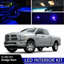11PCS Blue LED Bulbs 2002-2011 Dodge Ram 1500 2500 3500 White for License Plate