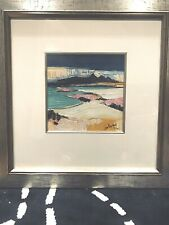 John Lowrie Morrison signed, Limited edition Giclee print, Sanna Bay, framed