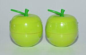 2 BATH & BODY WORKS GREEN APPLE LIP BALM GLOSS ULTRA SHEER SHINY LIPLICIOUS NEW