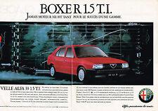 PUBLICITE ADVERTISING 025  1987  ALFA ROMEO ALFA 33   BOXER 1.5TI ( 2p)