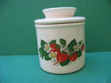 STRAWBERRY CLUSTER   CERAMIC BUTTER CROCK   MADE  IN  USA  FREE SHIPPING