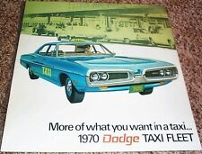 1970 Dodge Taxi Fleet Brochure Coronet/Polara/Sportsman