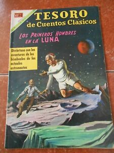 TESORO comic classics FIRST MEN ON THE MOON illustrated JULES VERNE sci fi SPACE