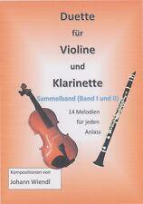 Noten Violine und Klarinette (Duette) (Sammelband I und II) von Johann Wiendl