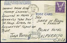 1010 US TO CHILE CENSORED POSTCARD 1944 CENSOR 5843 AUSTIN, TX - VALPARAISO