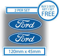 2 x Ford Stickers Badge Decals Logos 120mm Vinyl Car Van Pickup Waterproof