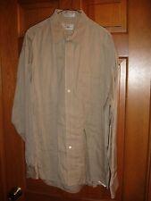 Louis Roth men's button down shirt size 16 1/2 34-35 LS USED WORN tan khaki
