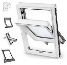 Dachfenster Schwingfenster 55x78 BW aus Holz Weiß lackiert incl.Eindeckrahmen