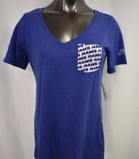 d8a18a67a Nike La Rams Womens T Shirt 2xl Football Pocket Blue Los Angeles Retro
