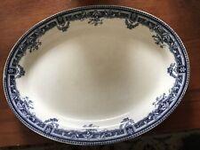 Upper Hanley Semi Porcelain fresco oval serving plate, 1900's