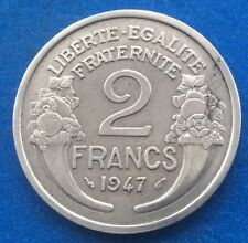 1947 FRANCE 2 FRANC COIN 70TH BIRTHDAY