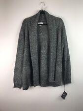 (564) NEW Ava & Viv Women's Cardigan Chunky Comfy Black Plus Size X