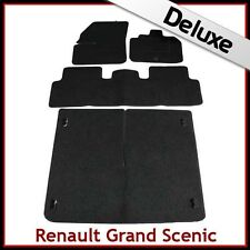 Renault Grand Scenic Mk2 2003-2009 Tailored LUXURY 1300g Car & Boot Mats BLACK