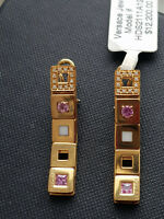 NWT $13.5K VERSACE MAIA Collection 18K yellow gold earrings