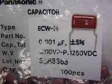 25 Panasonic ECWH10H102A4 .001uF 1000V 5% Polypropylene Film Capacitors
