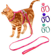 Escape Proof Pet Kitten Cat Walking Harness & Leash Adjustable Pink Blue Purple