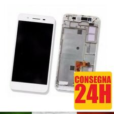 DISPLAY TOUCH PER HUAWEI P8 LITE SMART BIANCO CON FRAME VETRO LCD TAG-L01 L01