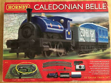 HORNBY CALEDONIAN BELLE TRAIN SET. HARDLY USED. EXCELLENT CONDITION.