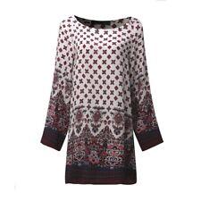 UK Women Floral Printed Long Sleeve Tunic Tops Casual Loose Mini Dress Plus Size