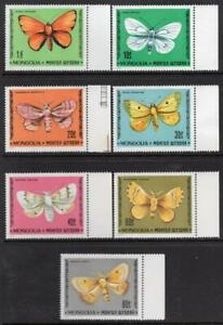MONGOLIA MNH 1977 SG1080-86 Butterflies and Moths