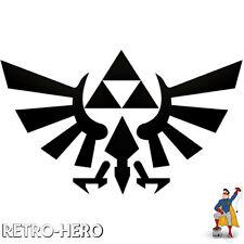 Zelda Aufkleber Vinyl Dreieck Nintendo Sticker Triforce Logo Schwarz 13x8 cm #2
