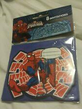 Brand New Spiderman Invitaton Pack Of 8
