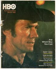 """HBO Cable Guide, March,1982, """"Any Which Way You Can"""", Clint Eastwood, Free Ship"""