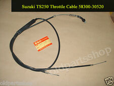 71-75 TS250 Savage Parts Unlimited Stainless Steel Black Throttle Cable K28-151