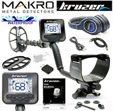 "NEW Makro KRUZER Waterproof Metal Detector With 11"" x 7"" DD COIL & WIRELESS HP !"