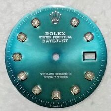ORIGINAL ROLEX DAIL DATE-JUST WITH CUSTOM MADE DIAMONDS, MEN'S
