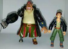 Disney Treasure Planet CYBORG SILLVER & JIM HAWKINS Action Figures Hasbro 2002