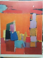 "NICOLAS DE STAEL Standing Nude 12.5/"" x 9.5/"" Poster Modernism Blue"