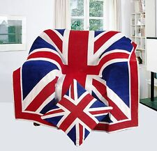 Large Union Jack Blanket Home Decor TV Lounge Armchair Sofa Bed Throw 125x150cm