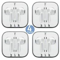 AURAL Wholesale 4-Pack Premium Earphones/Earbuds/Headphones with Stereo Mic&R...